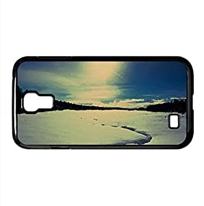 Snow Trail Watercolor style Cover Samsung Galaxy S4 I9500 Case (Winter Watercolor style Cover Samsung Galaxy S4 I9500 Case)