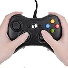 Finera Wired Controller USB Cable Gamepads Compatible with Microsoft Xbox 360 Console/PC/Window XP7 (Black) ...