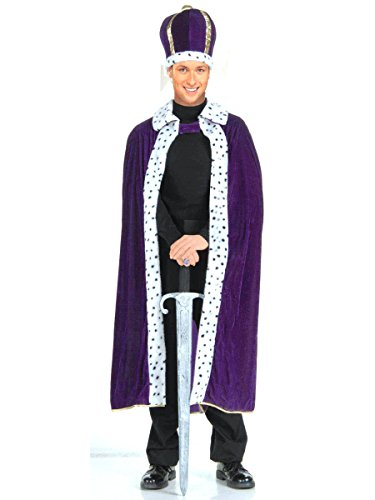 [Forum Novelties Men's King Robe and Crown Set, Red, One Size] (King Robe & Crown Set Adult)