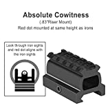 """Feyachi RDS-22 2MOA Micro Red Dot Sight Compact Red Dot Scope with 0.83"""" Riser Mount Absolute Co-Witness with Iron Sight"""