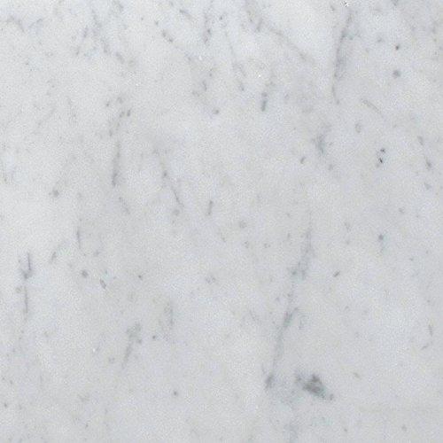 Bianco White Carrara Premium Italian Polished Marble Tiles 1 Square Feet (12x12 1SQF)