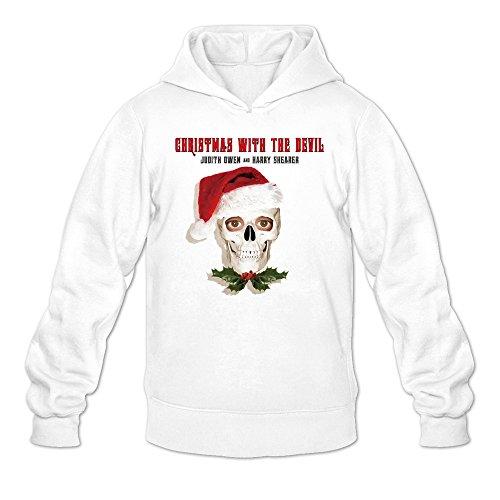 Men's Krampus The Devil Christmas Movie Hoodie White XX-Large -