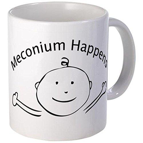 11 ounce Mug - Meconium Happens mug - S White