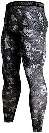 Mallas Deportivas de Camuflaje Ducomi Pantalones Deportivos de Compresi/ón Entrenamiento de Fitness Masculino Leggings para Trotar Pantalones de Yoga Estirables para Hombres