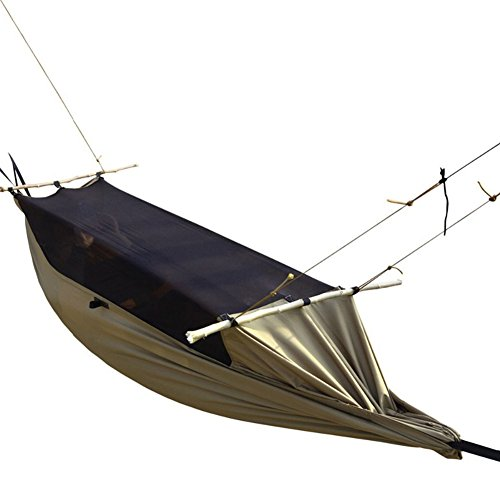 FREE SOLDIER Outdoor Camping Hammock with Mosquito Net Hanging Bed for Outdoor hiking backyard(Large) by FREE SOLDIER