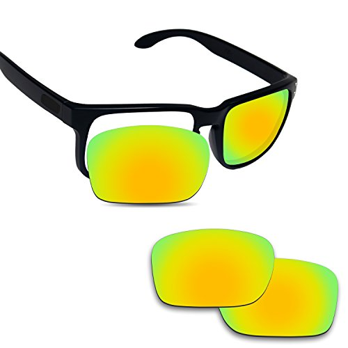 Replacement Lenses Eyewear Glasses - Fiskr Anti-Saltwater Replacement Lenses for Oakley Holbrook Sunglasses - Various Colors