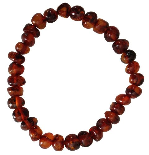 Baltic Amber Adult Bracelet for Adults - COGNAC - 7 inches - Anti-inflammatory - Pain Relief for Carpel Tunnel, Arthritis, Headache, Migraine, Joint Pain ()