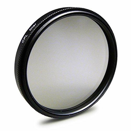 Filtro Polarizador CPL 58mm Compatible con Canon EOS 1DX, 5D, 6D, 7D, Fuji X-A1, X-E1, Olympus E-420, Samsung Galaxy NX10