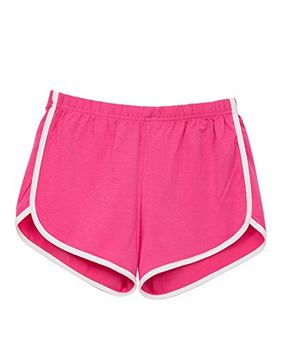 Xintianji Women Summer Casual Sport Shorts Pants Workout Yoga Running Shorts Pink_M from Xintianji