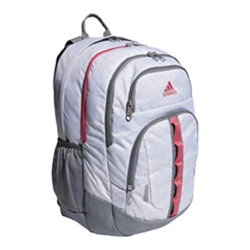 adidas Prime Backpack, Jersey White/Real Pink/Grey, One Size ()