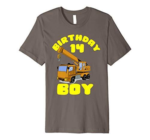 14th Birthday Boy Shirt | Crane Truck 14 year old Shirt Gift