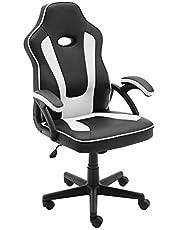 play haha. Spelstol tävlingsstil kontor svängbar dator skrivbord stol ergonomisk konferensstol arbetsstol med ländrygg stöd PU läder med justerbar uppgiftsstol £ gaslyft SGS-testad PH094