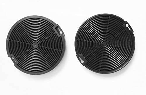 Keen Berk de Juego de filtros de carbón activo (2 Stk.) EFF 75 redondo – Filtro de recambio para Faber/FRANKE – 112.0067.942 112.0254.245, IKEA nyttig fil400, Progress, Eléctrico de Helios EFP6500 X/A: