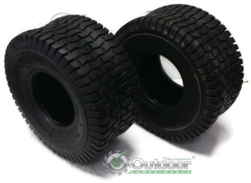 Set of 2 16x6.50-8 16-6.50-8 Turf Tires 4 Ply Tubeless Garden Tractor Lawn mower (Tube Lawn Garden Tractor)