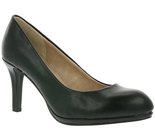 Arizona Pumps Lackpumps High Heels beige / schwarz Schwarz