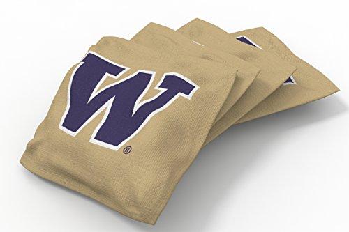 (Wild Sports NCAA College Washington Huskies Gold Authentic Cornhole Bean Bag Set (4 Pack))