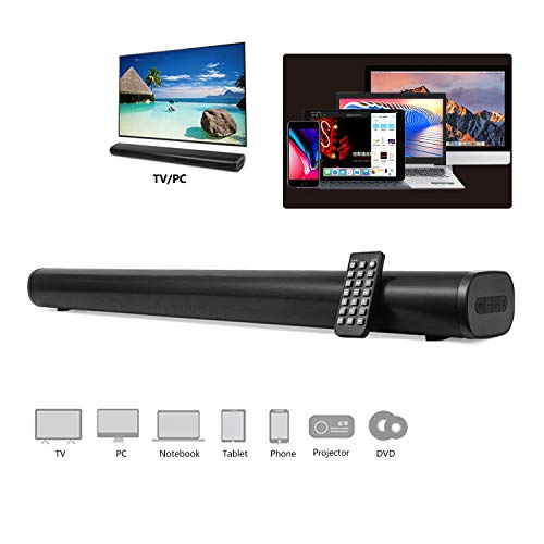 Best Deals! AKIXNO Soundbar 2.0, 40W Bluetooth 5.0 TV Sound Bar with Built-in Dual Subwoofer, Adjust...