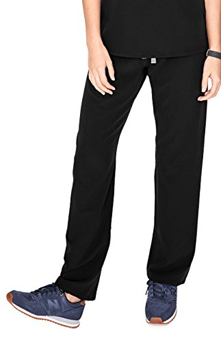 (FIGS Medical Scrubs Women's Livingston Basic Scrub Pants (Black,)