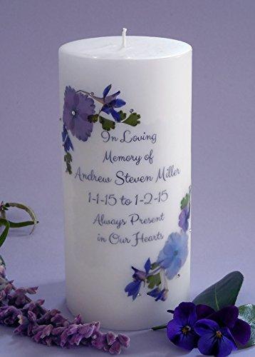 (Violet Bouquet Personalized 3x6 Memorial)