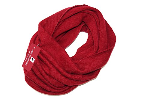 Friends of Meditation 100 % Pure Cashmere Women Knitted light weight Neck Warmer (Maroon)