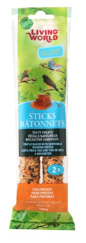 Living World Finch Honey Treat Sticks, 2-Ounce - Finch Stick