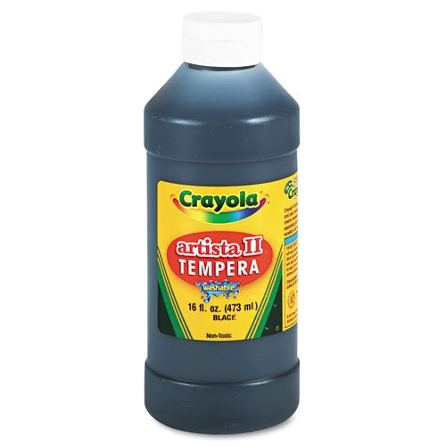 Crayola Artista II Washable Tempera Paint 16oz Black (Crayola Spray Paint)