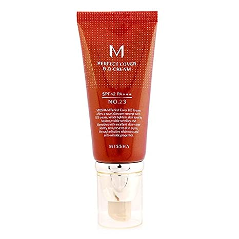 Missha M Perfect Cover BB Cream Crema hidratante con maquillaje y FPS 42 / PA+++ (número 23 / beige natural) 50 ml