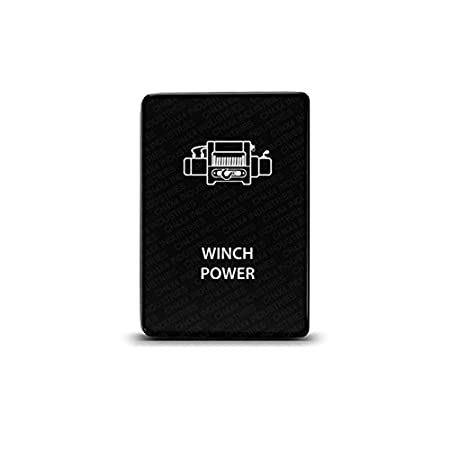 CH4X4 Small Push Switch for Toyota -Winch Power Symbol - Amber LED CH4x4 Industries