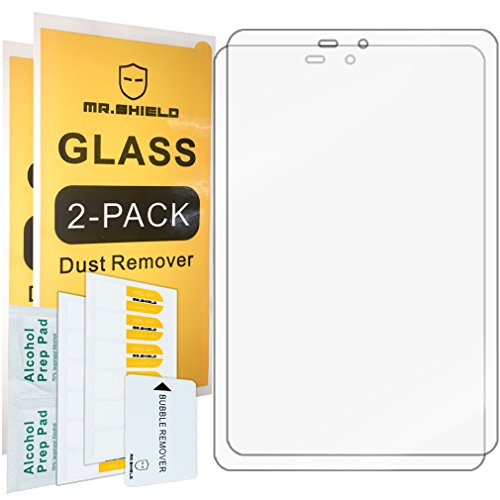[2-Pack]-Mr.Shield for Sprint Slate 8 inch (AQT80) [Tempered Glass] Screen Protector [0.3mm Ultra Thin 9H Hardness 2.5D Round Edge] with Lifetime Replacement
