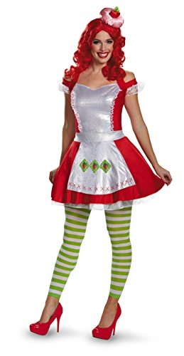 Disguise Women's Strawberry Shortcake Deluxe Teen Costume, Multi, X-Small -