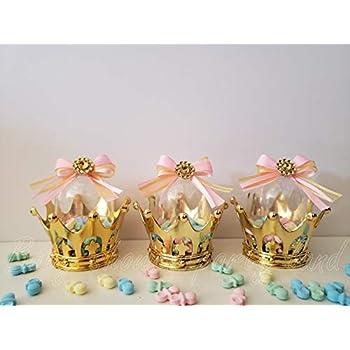 Amazon.com: 12 Collar de chupete rosa princesa con una ...