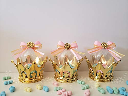 12 Princess Gold Fillable Crowns Baby Shower It's