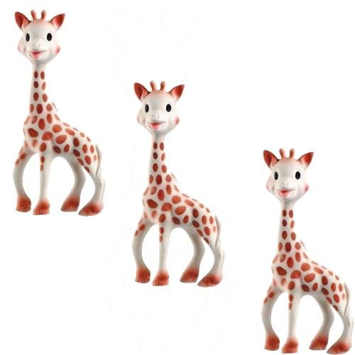 Vullie 616324-3 Sophie the Giraffe Teether Set of 3