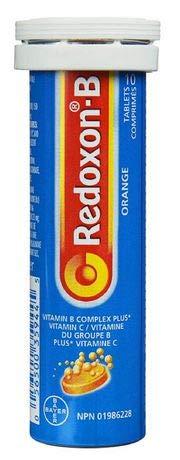 6 x Redoxon®-B Vitamin B Complex plus Vitamin C, Orange, 10 Tabs (6)