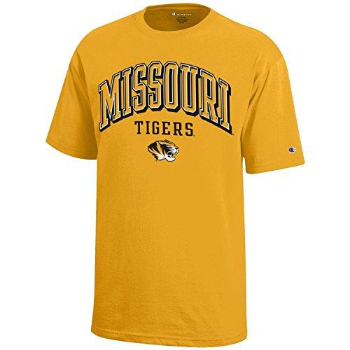 Champion NCAA Missouri Tigers Youth Boys Short sleeve Jersey T-Shirt, Medium, Gold (Missouri Tigers Jersey)