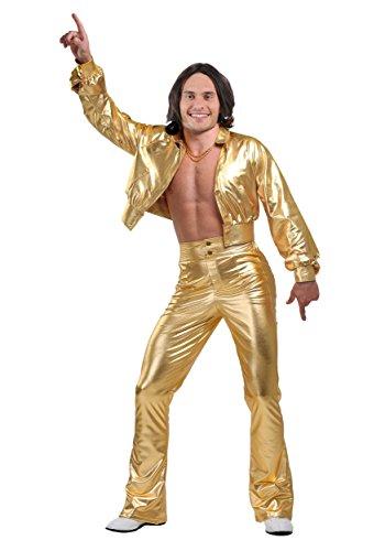 Fun Costumes Mens Studio Disco Men's Costume Large (70s Disco Gold Adult Costume)