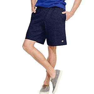 Champion Men's Jersey Short with Pockets, Granite Heather, Medium