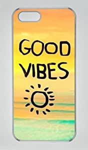 Good Vibes Sun 002 Iphone 5 5S Hard Shell with Transparent Edges Cover Case by Lilyshouse