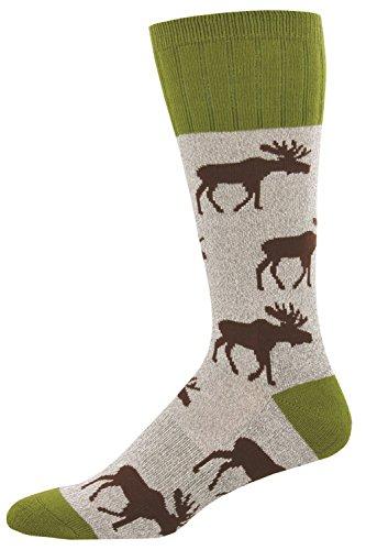 Socksmith Men's Moose Light Gray One Size