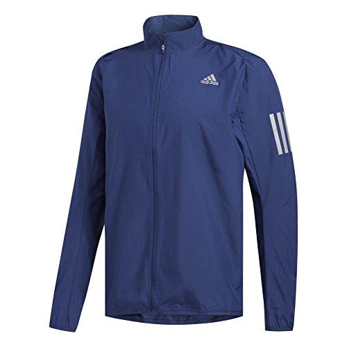 adidas Men's Running Response Wind Jacket, Noble Indigo, X-Large by adidas