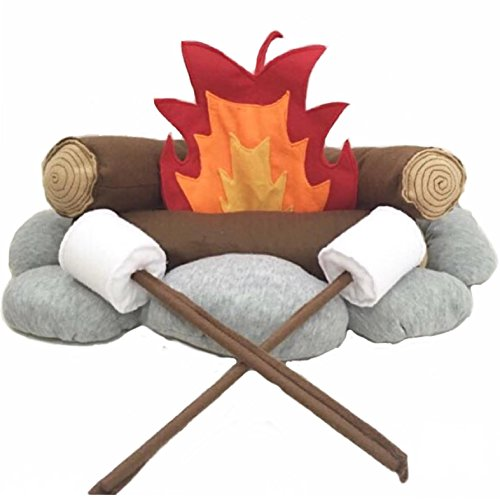 The 'Happy Camper' Felt/Plush Campfire Set for Kids