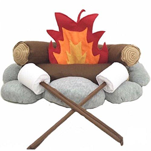 - The 'Happy Camper' Felt/Plush Campfire Set for Kids