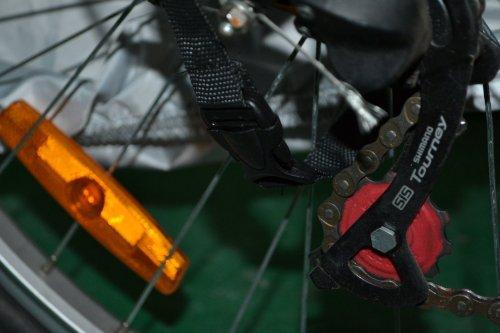 KLOUD ® Silver & Black 190T nylon waterproof bike / bicycle cover (size: LL