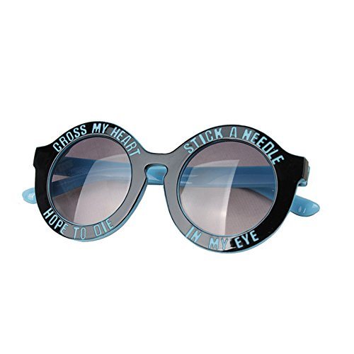 Meanhoo Boys Girls Kids Size Round Circle mirrored Mirror Lens Hippie Sunglasses, Funny Retro Resist ultraviolet light eye protection Children Sunglasses for Unisex Age 3-13 Blue