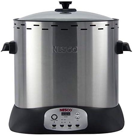 NESCO ITR-01 Digital Infrared Upright Turkey Roaster, Oil Free, 1420 Watts, Silver