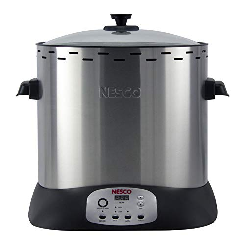 (NESCO ITR-01 Digital Infrared Upright Turkey Roaster, Oil Free, 1420 Watts, Silver)