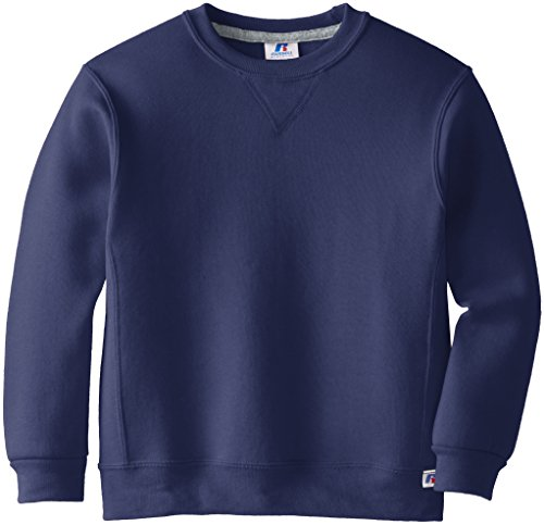 Russell Athletic Big Boys' Fleece Crew, Navy, Medium