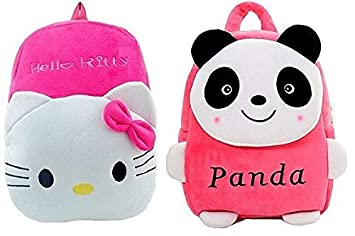 c29a3f54a02 Image Unavailable. Image not available for. Colour  Blue Tree Kids Plush  Cartoon Casual Backpack (Panda   Hello Kitty ...