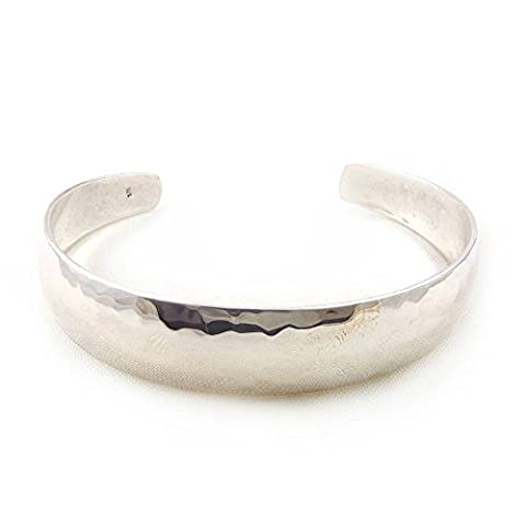 The Mexican Collection 925 Sterling Taxco Silver Hammered Finish Bracelet Cuff 7