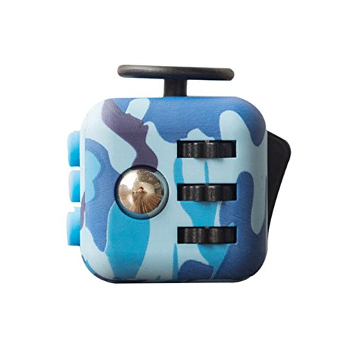 [New Arrival Fidget Cube Anxiety Stress Relief Focus Toys Gift Camouflage Army. (Navy Blue)] (Dog Costume Carrying Gift Video)
